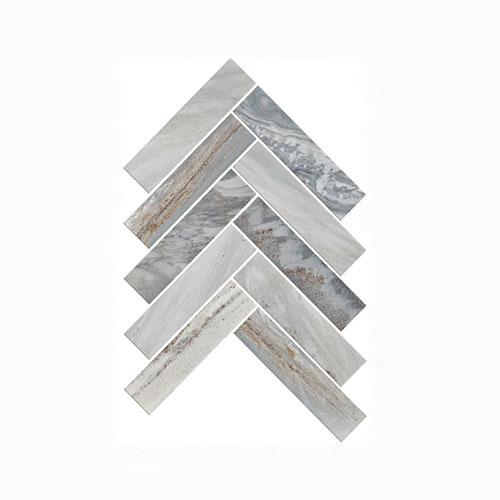 Artemis Blue Sandstone Herringbone Mosaic Tile 35x150mm