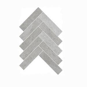 Artemis New Grey Herringbone Mosaic Tile 35x150mm