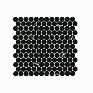 Artemis Nero Marquina Penny Round Mosaic Tile 300x300mm