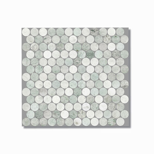Artemis Ming Green Penny Round Mosaic Tile 300x300mm