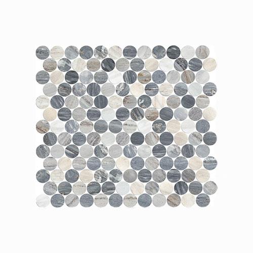 Artemis Blue Sandstone Penny Round Mosaic Tile 300x300mm