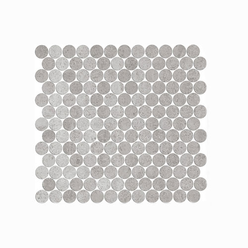 Artemis New Grey Penny Round Mosaic Tile 300x300mm