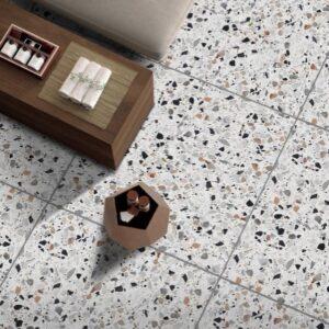 Galaxy White Matt Floor Tile 600x600mm