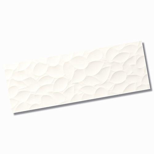 Genesis Leaf White Matt Wall Tile 350x1000mm
