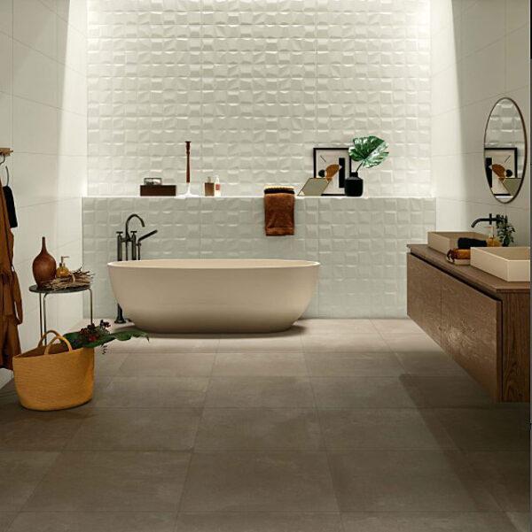 Genesis Rise White Matt Wall Tile 350x1000mm