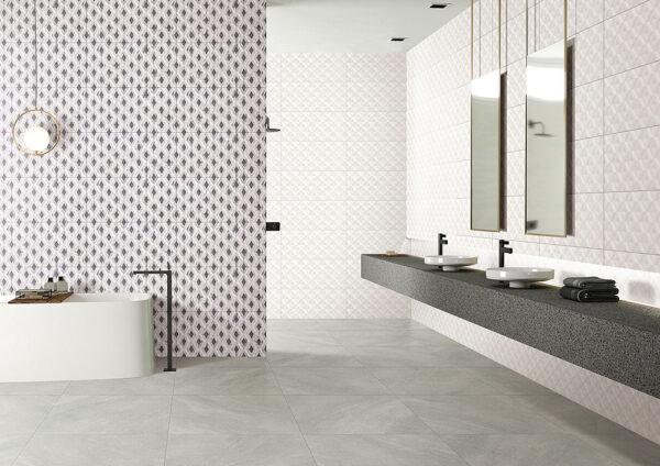 Winter Diamond Shadow White Wall Tile 300x600mm